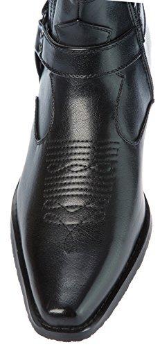 Alberto Fellini Western Style Cowboy Boots Black Size 10.5