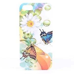 Chrysanthemum and Butterfly Pattern Hard Case for iphone 5c