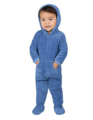 Footed Pajamas - Under The Sea Infant Hoodie Chenille - Extra Large (Baby Blue 12)