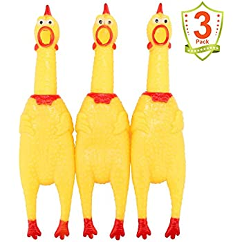 Pet Supplies : MAGGIFT Screaming Chicken Toy Rubber