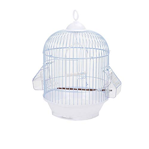 (ZNZN Small Bird Cage, Round Bird Cage for Peony/Tiger Skin/Embroidered Eye/Thrush/Starling/Pacific and Other Small and Medium-Sized Birds, Simple and Lightweight )
