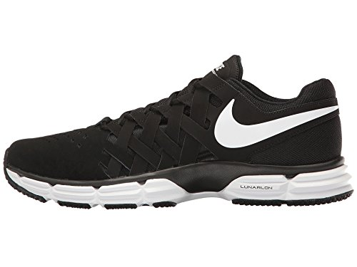 Nike Lunar Fingertrap Mens Training Shoe (11 4E - Extra Wide, Black/White-Black)