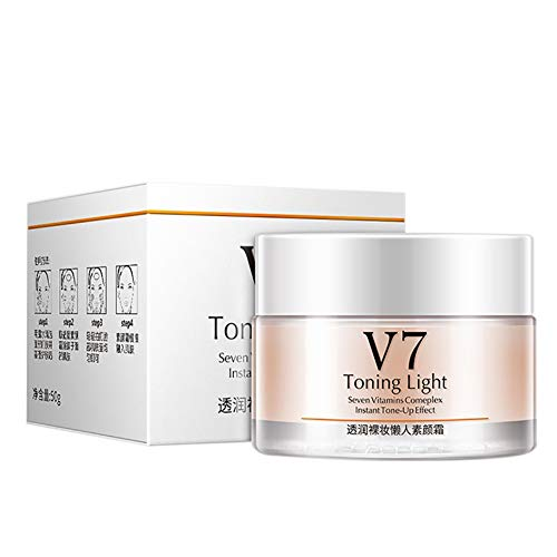 V7 Toning Light Instant Tone Up Cream Moisturizing Hydration Seven Vitamins Complex Face Cream (A1)