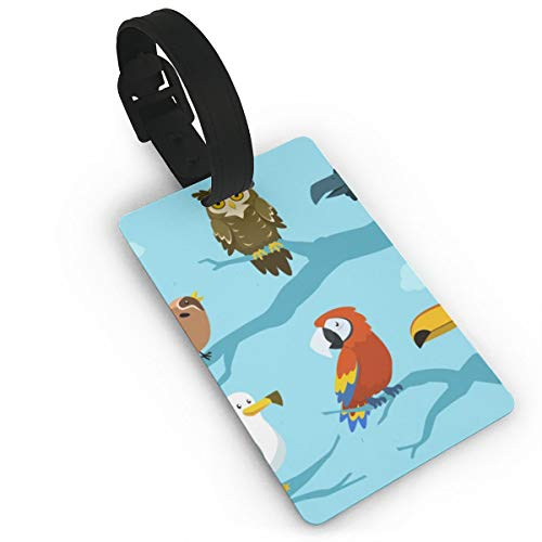 Sheery Owl Luggage Tags Business Card Holder Travel ID Bag Tag