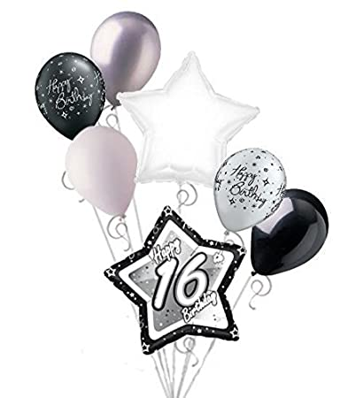 Amazon Jeckaroonie Balloons 7 Pc 16th Elegant Star Happy