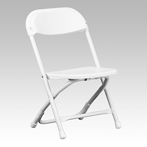 Flash Furniture Kids Plastic Folding Chair in White