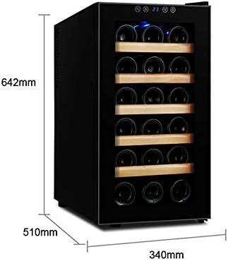 Atten Vino Gabinete compacto del refrigerador de vino Beba refrigerador de la casa independiente rojo y blanco Enfriador de vino con puerta de vidrio Bodega Los estantes de madera maciza funcionamient