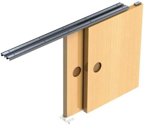 Para puerta corredera para rieles de DIY juego de cambio de marchas silencio Armario 2 puerta 9 kg 1800 mm apertura: Amazon.es: Bricolaje y herramientas