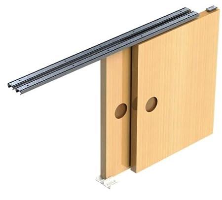 Charmant Sliding Door Gear Track System DIY Kit Set Hush Wardrobe Cupboard 2 Door  9kg 1800mm Opening