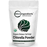 Micro Ingredients Pure Organic Chlorella Powder 1 Pound (454 Grams), Rich Vitamins and Proteins, Support Immune System, No Irradiated, No Contaminated, No GMOs and Vegan Friendly.