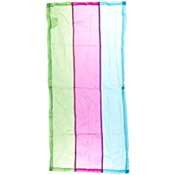 Abilitations Cozy Shades Softening Light Filters - 54 x 24 inches - Pack of 4 - Striped Green, Blue and Purple