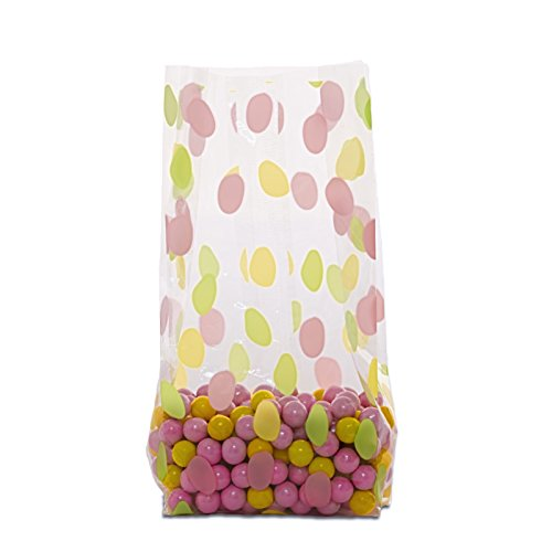 Easter Egg Treat Bags Clear Cello Bags for Candy, Pack of 20