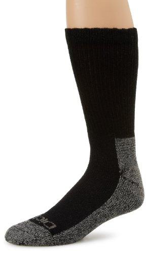 Toe Basic Black Boots - Dickies Men's 2 Pack Steel Toe Crew Socks, Black/Grey, Sock Size:10-13/Shoe Size: 6-12