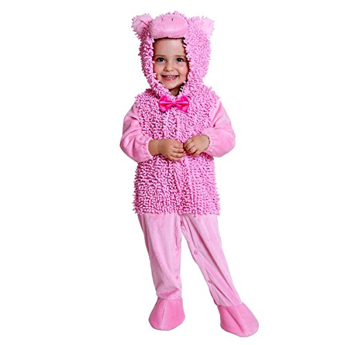 Halloween Piggy Costume for Baby Girls and Boys - Perfect Cosplay & Theme Party Dress Up Outfit Gift - Pink, 12 Months to 24 (The Best Halloween Costumes This Year)