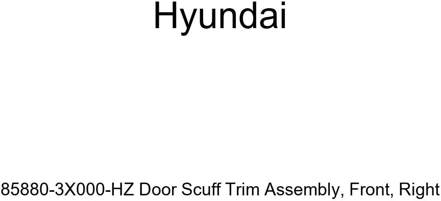 Genuine Hyundai 85880-3X000-HZ Door Scuff Trim Assembly Front Right