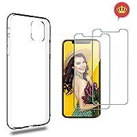 Capa Transparente Slim iPhone 11 Pro Max + 2x Películas Vidro Temperado, Case-Friendly