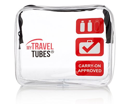 TSA Approved 3-1-1 Airline Carry On Clear Travel Toiletry Bag | Quart Sized