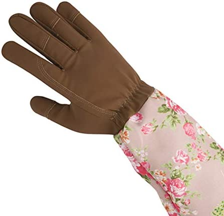 FINECI ガーデングローブ ガーデニング手袋 革手袋 作業用手袋 プロフェッショナル サボテン ローズ バラ 長い 花柄 滑り止め 防刃グローブ 多用途 耐久性 耐摩耗性 庭作業手袋 安全保護 穿刺防止