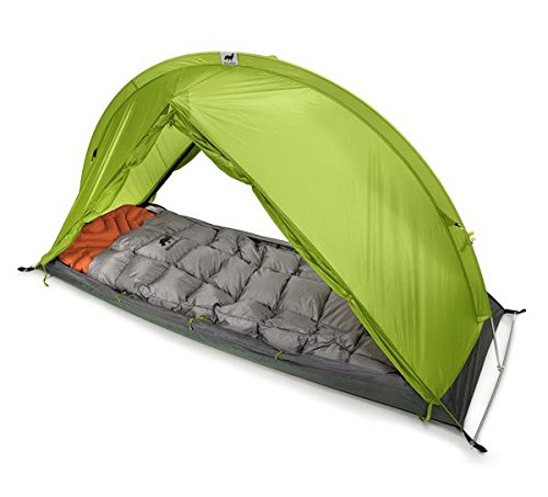 RhinoWolf 2 Seasons All-In-One Tent, Sleeping Bag and Mattress for Hiking and Camping