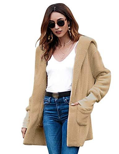 Manteaux À Femmes Manches Mode Cokil Uni Capuche Kaki Manteau Longues Velours La Pour En R71qAp