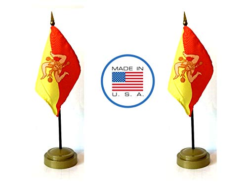 (Made in The USA Flag Set. 2 Sicily Rayon 4