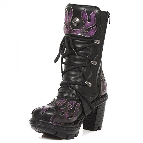 Nuovi Stivali Di Roccia M.neotr009-c2 Gotiche Damen Hardrock Punk Stiefel Schwarz