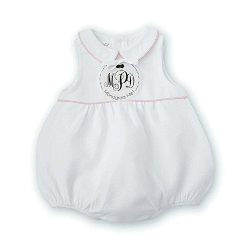 (Mud Pie Monogram Me Pique Pink Bubble Size 9/12 Months)