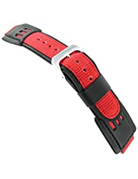 16mm Speidel Express G Shock Fits Casio Red Black Watch Band 5167