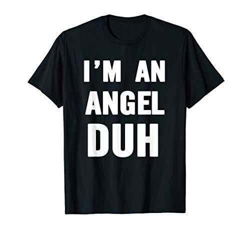 Easy Halloween Angel Costume Shirt for Men Women Kids]()