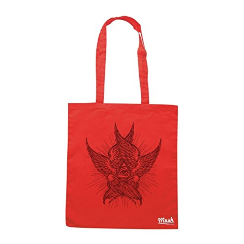 Borsa EYE ANGEL FANTASY - Rossa - DIVERTENTE by Mush Dress Your Style