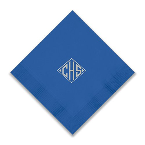 Custom Foil Napkins - Beverage - with Monogram - 3279M by American Stationery (Image #4)
