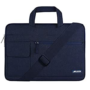 MOSISO Laptop Shoulder Bag Compatible 2019 2018 Newly MacBook Air 13 inch with Retina Display A1932, Newly MacBook Pro 13 inch A2159 A1989 A1706 A1708, Polyester Flapover Briefcase Sleeve,Navy Blue
