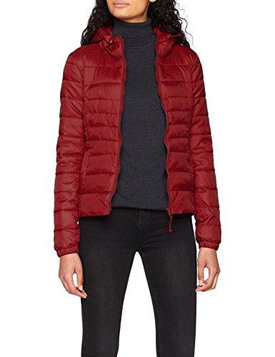 ONLY NOS Onltahoe Hood Jacket OTW Noos, Blouson Femme Rouge (Cordovan)