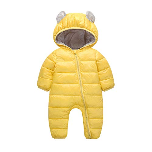 FEITONG Baby Boys Girls Kid Rompers Children Winter Thick Winter Warm Jumpsuit Outerwear(0-6M,Yellow)