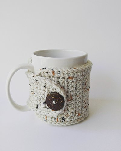Handmade Coffee Mug Cozy Oatmeal product image
