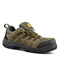 Tiger Men's Safety Shoes Steel Toe Lightweight CSA Approved Suede Leather Work Shoes 3111