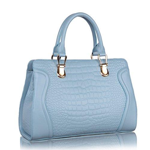 Coccodrillo Bag Blu Tote Kaxidy Pelle In Borsa Con Luce vxadqwp