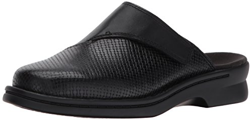 CLARK'S Women's Patty Tayna Mule, Black Leather, 8.5 W - Mules Lightweight Leather