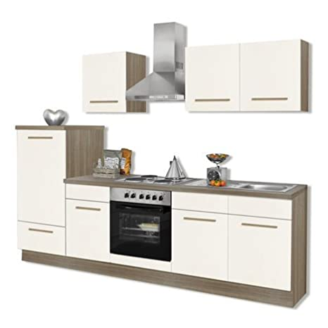 ROLLER Küchenblock WIEBKE - Magnolie - inklusive E-Geräte: Amazon ...