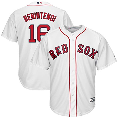 Outerstuff Andrew Benintendi Boston Red Sox #16 Youth Cool Base Home Jersey White (Youth Small 8)