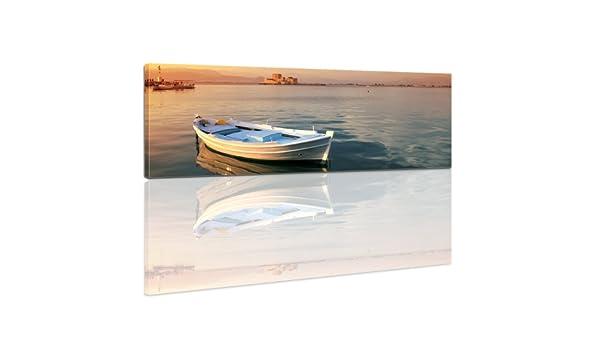 Bilderdepot24 Bastidor Imagen - Cuadros en Lienzo Barco de Pesca 120x40cm (Panorama) - Made in Germany!: Amazon.es: Hogar
