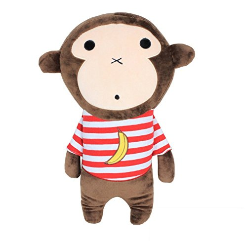 Cute Doll Car Seat Strap Belt Cushion Cover for Kids Children, Adjustable Pillow Pad Vehicle Car Safety Belt Toy Pet Protect Shoulder Chest Child Banana Monkey Plush Toy(Seat Belt Doll)
