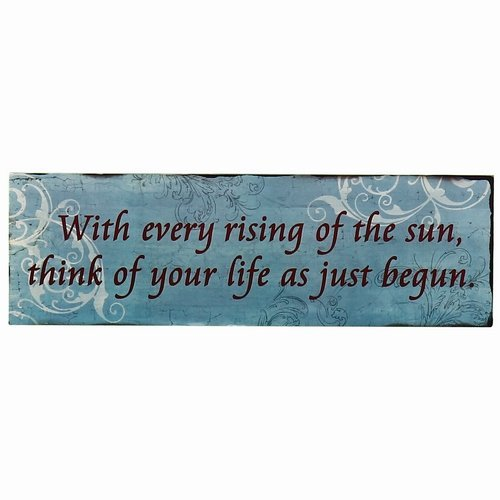 """Adeco Decorative Wood Wall Hanging Sign Plaque """"With Every R"""