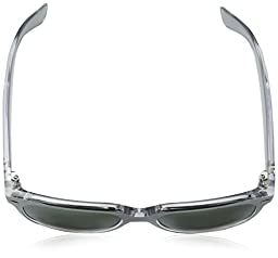 Ray-Ban RB2132 New Wayfarer Non Polarized Sunglasses, Top Brushed Silver, Green Silver,  40.7 mm