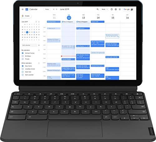 "2020 Latest Lenovo Chromebook Duet 2-in-1 Tablet/Laptop 10.1"" FHD+ (1920 x 1200) IPS Touchscreen- MediaTek Helio 8-Core P60T 4GB RAM 64GB eMMC Webcam WiFi ARM G72 MP3 Chrome OS + iCarp USB C Toggle"
