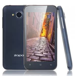 """ZP600+ 4.3"""" MTK6582 Quad Core 1.3GHz Android4.2 OS 4GB+1GB Bar Cell Phone Black (US Standard)"""