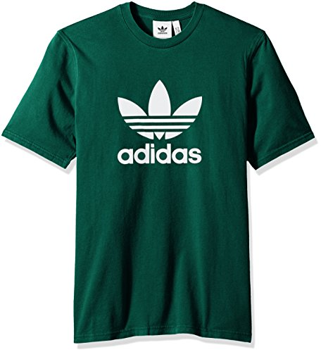 adidas Originals Men's Trefoil Tee, Collegiate Green, M Adidas Green