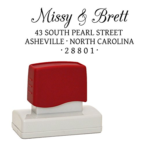 Cute Custom Stamper, Personalized Address Stamp,, Self Inking, Personalized Stamp, A Classy Address Stamper Personalized for Family, Business, Wedding, or Gift - You can have 3 or 4 Lines