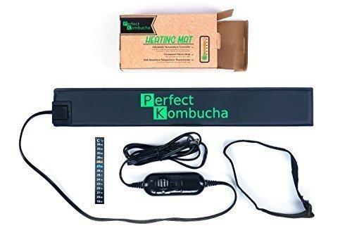 "3""x20"" Kombucha Heater Wrap Around Brew Belt with Strap, Multiple Temperature Controller and Thermometer - Perfect Kombucha Kit, Fermentation Heater (1, regular)"