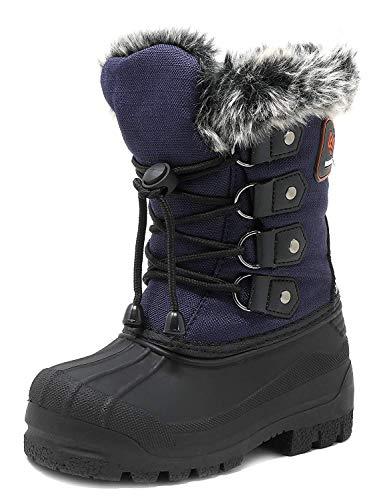 Winter Boots Navy (DREAM PAIRS Little Kid Maple Navy Knee High Winter Snow Boots Size 2 M US Little Kid)